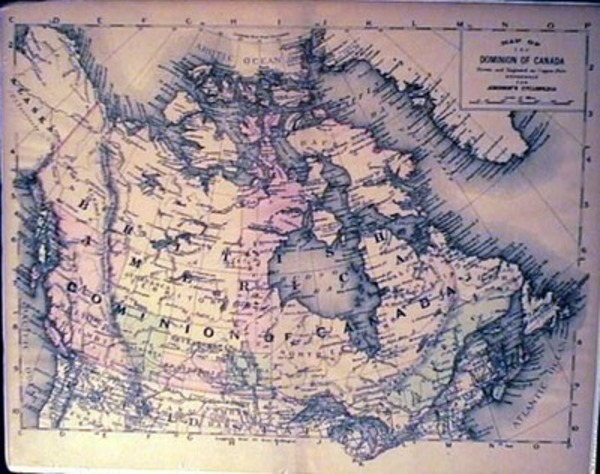 Map of the Dominion of Canada. Dominion of Canada.
