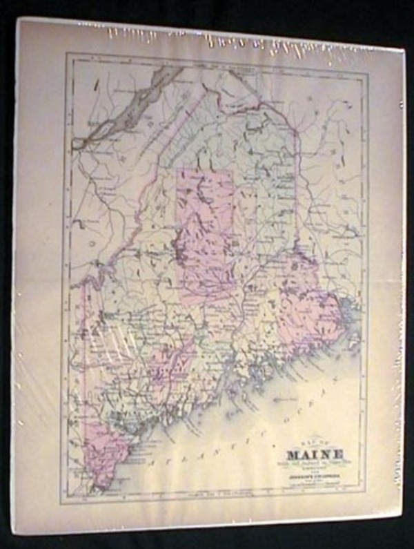 Map of Maine. Maine.