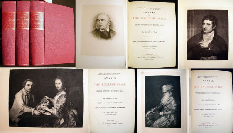 Annals of the English Stage from Thomas Betterton to Edmund Kean. Doran Dr.