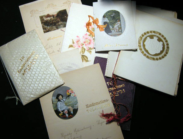 Collection of Danish Confirmation Announcements. Denmark.