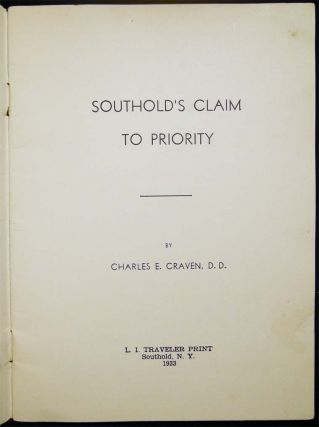Southold's Claim to Priority