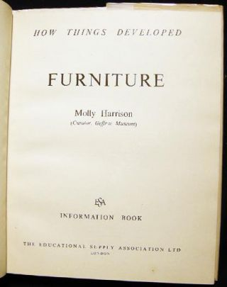 How Things developed: Furniture