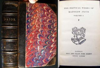 The Poetical Works of Matthew Prior (with) an Autograph Note Signed from Paul Van Dyke of the...