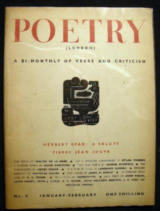 Poetry (London) A Bi-Monthly of Modern Verse and Criticism No. 4 January-February 1941. Poetry
