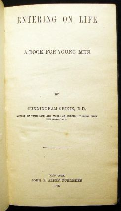 Entering on Life a Book for Young Men