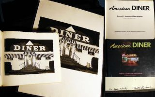 "Inscribed Photograph ""Diner"" By Elliott Kaufman Used in the Book ""American Diner"" (with) a First..."