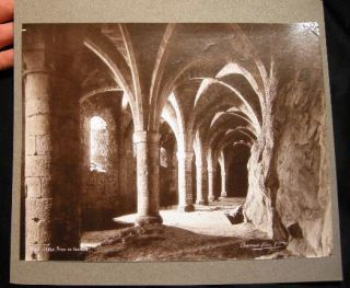Large Format 19th-Century Switzerland Chillon Prison De Bonivard Photograph By Charnaux Freres &...