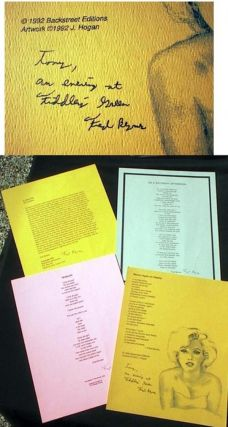 Four Broadside Poems Signed By Fred Byrnes. Fred Byrnes