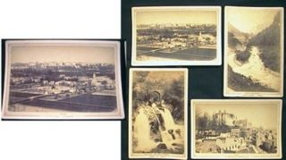 Four Cabinet Card Photograph Views of Pau, France By Lafon 3, Rue Henri-IV Pau Eaux-Bonnes...