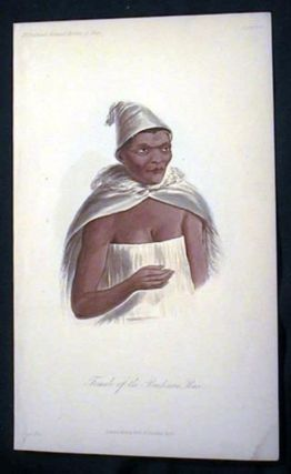 Hand-Colored Lithograph of a Female of the Bushman Race. Bushman
