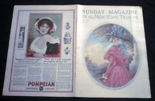 Sunday Magazine of the New-York Tribune Part III October 15, 1911 Color V.W. Newman Cover Art &...