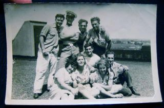 Circa WWII Collection of about 55 Snapshots and Larger Portraits of an American Family & their Activities