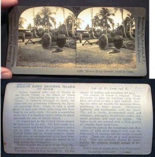Mission Home Grounds, Island of Guam Keystone Stereo View. Photography