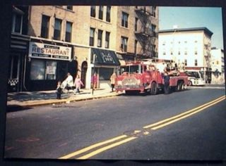 1993 Photograph of Tower Ladder # 149 Fire Truck 86th Street & 3rd Avenue Bay Ridge Brooklyn New...