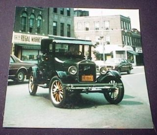 Photograph of Model T Ford Coupe 1926 at Corner of 90th Street and 3rd Avenue Brooklyn New York....