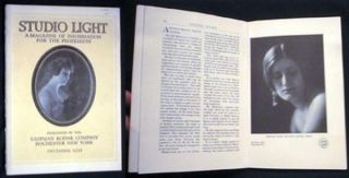 Studio Light a Magazine of Information for the Profession published By the Eastman Kodak Company...