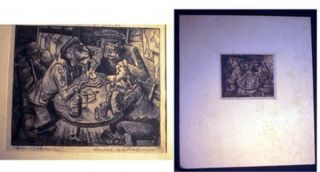 """Old Soldiers"" Etching By Harold W. Rabinowitz Pencil Signed and titled and Additionally..."