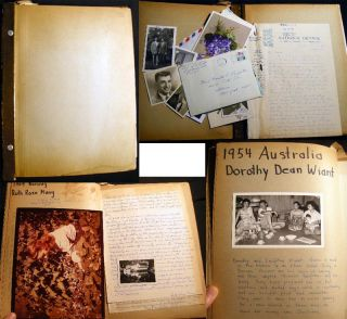 Album of Manuscript Memorabilia and Letters from the International Four-H Club Exchange Program....