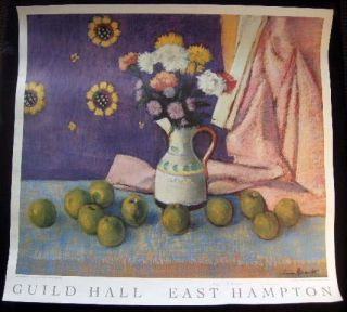 Signed & Inscribed Warren Brandt Poster for Guild Hall East Hampton of His Still-Life Pastel on...