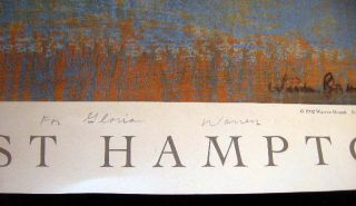 "Signed & Inscribed Warren Brandt Poster for Guild Hall East Hampton of His Still-Life Pastel on Paper ""Granny Smith"""