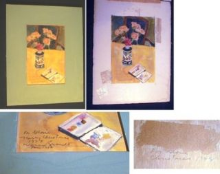 Original Signed & Inscribed Warren Brandt Still-Life Watercolor on Paper. Warren Brandt