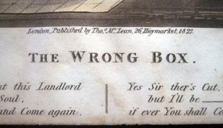 The Wrong Box Original Hand Coloured Engraving By Geo. Hunt After M.E.