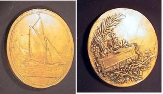 Bronze Medallion with One Face By company of Arthus-Bertrand, top engravers and medallists in...