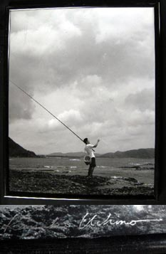 Fisherman, Amami Island Japan Black and White Photgraph Signed By Kanako Uchino. Kanako Uchino