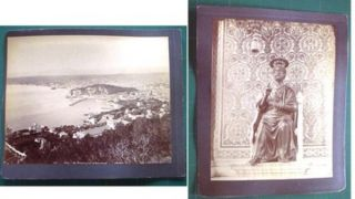 C 1880 Large Format Nice France Photograph: Vue Generale Prise Du Mont Boron By ND Photo....