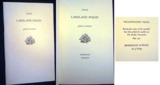 Three Lakeland Poems. John Ruskin