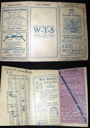 Time Table Advertiser for Kew Gardens and Woodside (with) the Monthly Commutation Ticket for the...