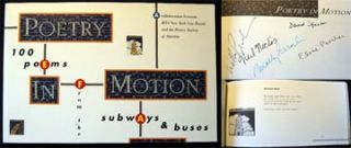 Poetry in Motion 100 Poems from the Subways and Buses. Molly Peacock