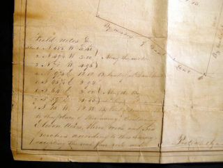 1852 Manuscript Map of Land at Lawrence's Point In Newtown Long Island Sold By Dan.'l Lent to Mrs. Mary Lawrence Mary R. Stryker and Mr. James Moore: Surveyed By Corn.'s Hyatt Dec. 13th, 1852