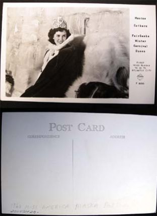 1960 Real Photo Postcard of Maxine Cothern Fairbanks Winter Carnival Queen First Miss Alaska to...