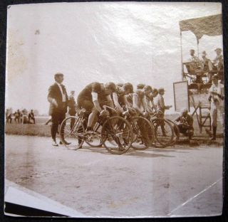 C. 1915 Bicycle Race Photograph. Bicycling