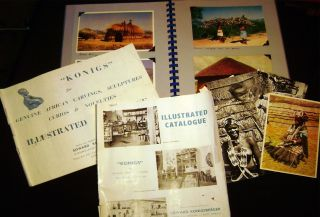 1950-1960 Group of Catalogues, Photographs and Postcards Illustrating & Promoting the African...