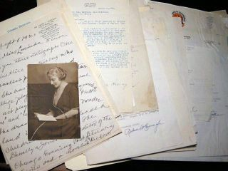 1921 - 1962 Collection of Correspondence of El Paso Texas Educator & Author Dr. Lucinda De...