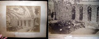 C. 1880 Albumen Photograph of the Ossuario (Ossuary) at the Santa Maria Della Concezione Dei...
