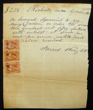 1856-1868 Legal Documents for the James & Israel Wright and Nathaniel Pearsall Families of Hempstead, Rockaway and Rockville Centre Long Island New York