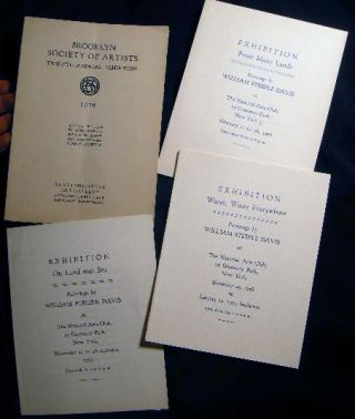 1900-1959 Group of Materials Illustrating the Creative Life of William Steeple Davis, Orient Long Island New York Fine Artist Including Original Sketches, a Typed Manuscript of a Nautical Book, Art & Photography Exhibition Catalogs & Articles.