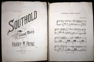 To H.G. Elmer, Peconic, L.I. Southold Grand March By Harry M. Payne. Southold. N.Y. Sheet Music -...