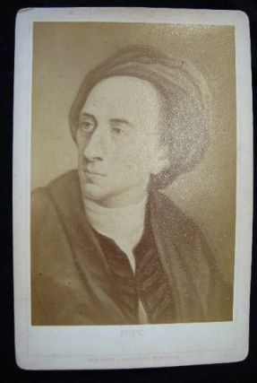 C. 1880 Cabinet Card Albumen Photograph of a Portrait of Alexander Pope By Stroefer & Kirchner....