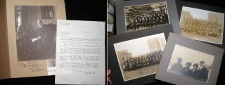 C. 1917 - 1921 Group of 5 Photographs of the Employees and Principals of the Oakley Chemical Co....
