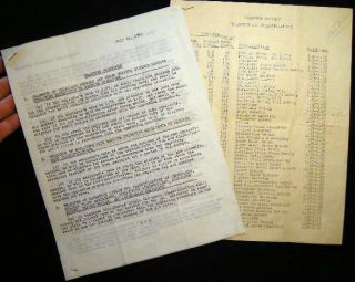 1945 - 1947 Transfer Procedures and Incentive & Non-Incentive Job Classifications, Including Job...