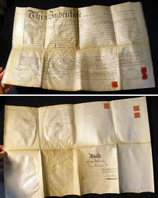 "1816 Indenture on Vellum for Land Known as ""Paxton Boys Folly"" in Heidelberg and Tulpehocken..."
