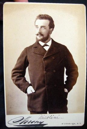 Circa 1882 Cabinet Card Photograph of Opera Tenor Ernesto Nicolini By Sarony New York. Americana...