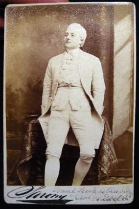 Circa 1882 Cabinet Card Photograph of Actor Osmond Tearle By Sarony New York. Americana - 19th...
