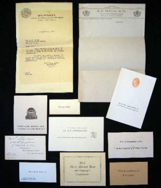 Small Group of 19th & 20th Century American Publisher's Cards & Compliments. Americana -...