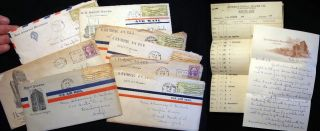 1934 - 1936 Group of Letters from a Travelling Fine Silverware Salesperson Working for the...