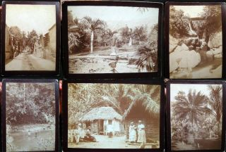 Circa 1885 Group of Large Format Cabinet Card Photographs of Jamaica West Indies. Photography -...